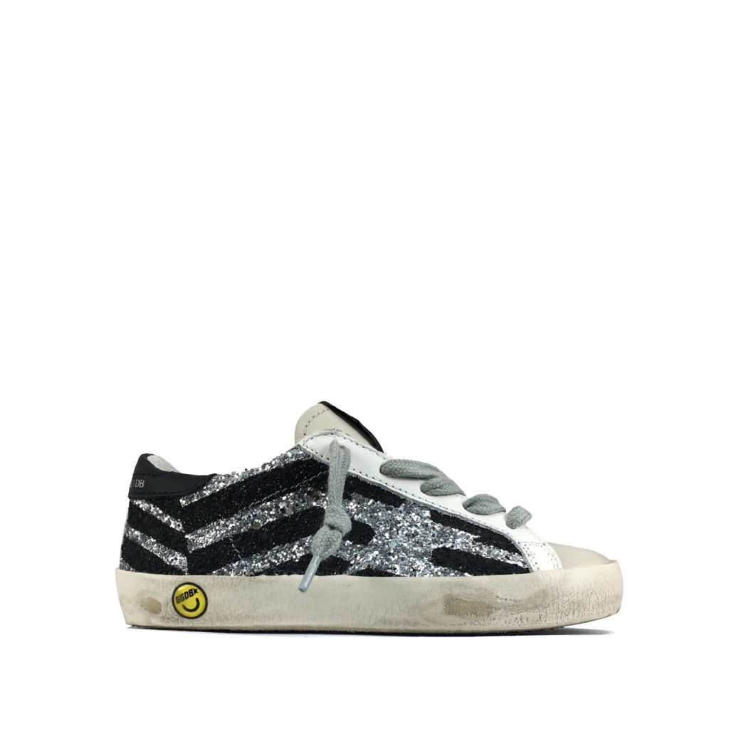 f8a8a4dca4c1b Golden Goose deluxe brand - Glitter sneaker in silver and black