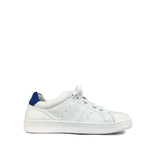 Kids shoe online BiKey trainer White sneaker with blue details