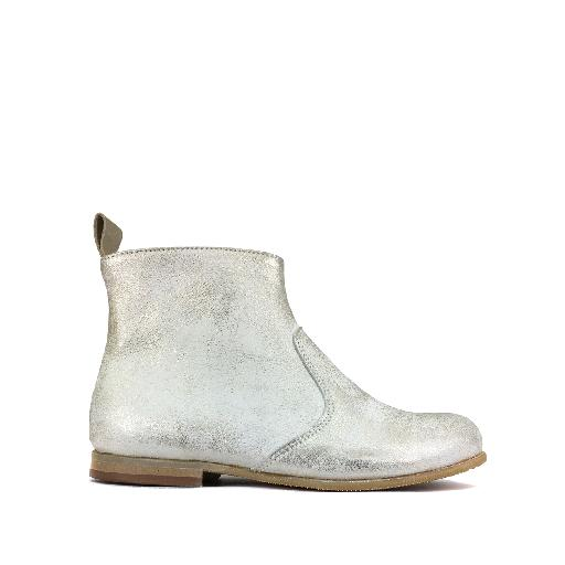 Kids shoe online Pèpè short boots Short boot in gold on white