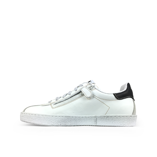 Momino trainer White sneaker with fluo yellow details