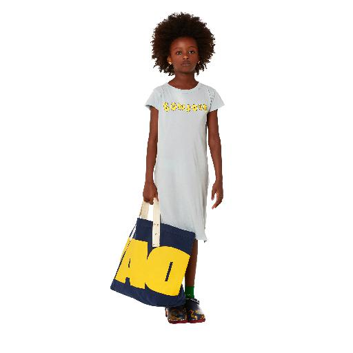 Kids shoe online The Animals Observatory dresses T-shirt dress in grey-blue with print