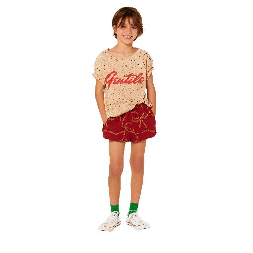 Kids shoe online The Animals Observatory swimming pants Burgundy swimshorts with print