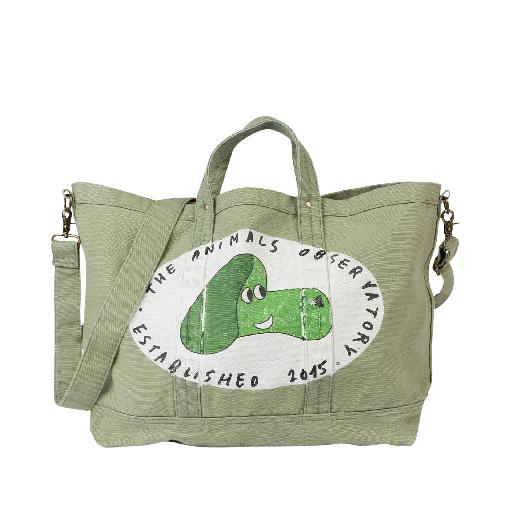 Kids shoe online The Animals Observatory bags Large totebag in grey-green with print
