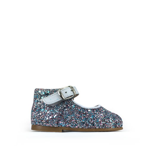 Kids shoe online Eli first walker First step ballerina in multiglitter
