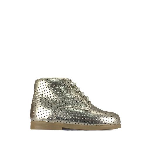 Kids shoe online Pèpè first walker First stepper in perforated gold