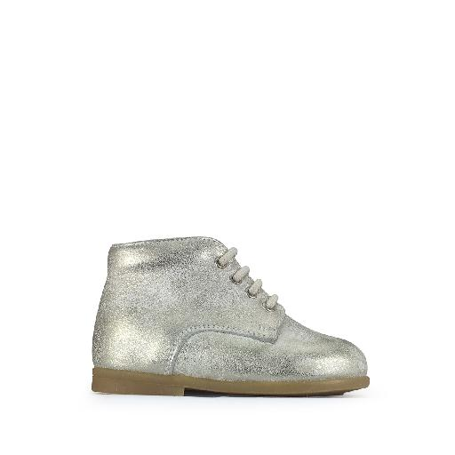 Kids shoe online Pèpè first walker First stepper in gold on white