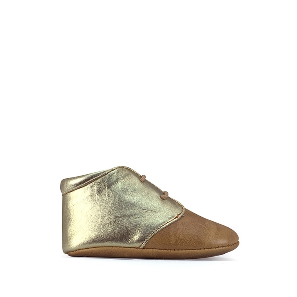 Tricati - Pre-step shoe cognac and gold