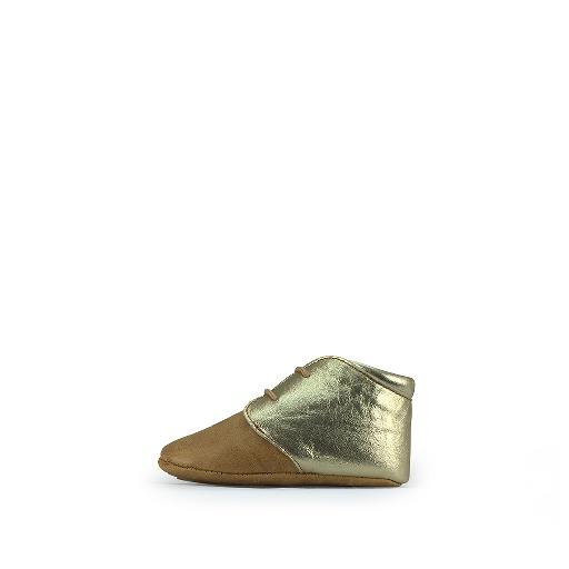 Tricati pre step shoe Pre-step shoe cognac and gold