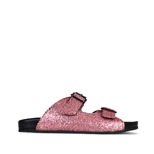 Kids shoe online Gallucci sandal Comfortable slippers pink glitter
