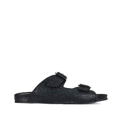 Kids shoe online Gallucci sandal Comfortable slippers black glitter