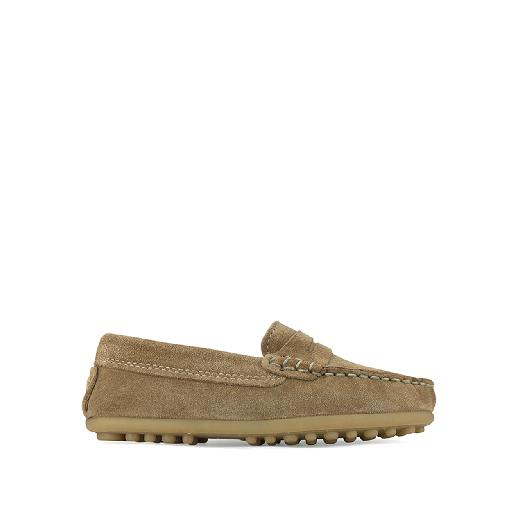 Kids shoe online Eli loafer Loafer in brown nubuck