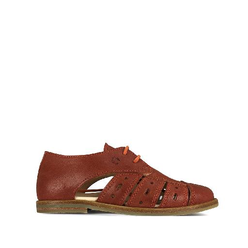 Kids shoe online Nathalie Verlinden lace-up shoe Brandy brown open derby