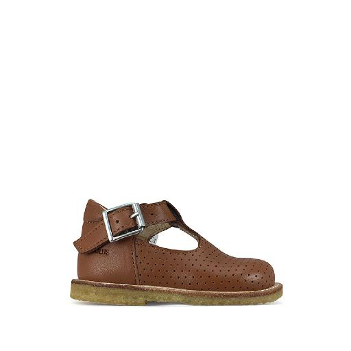 Kids shoe online Angulus first walkers Small brown summer shoe