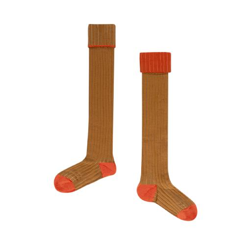 Kids shoe online Repose AMS knee socks Brown overknee socks