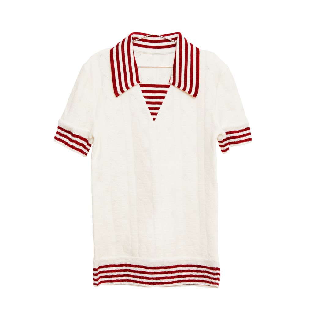 Fish & Kids t-shirts Sailor top in wit en rood