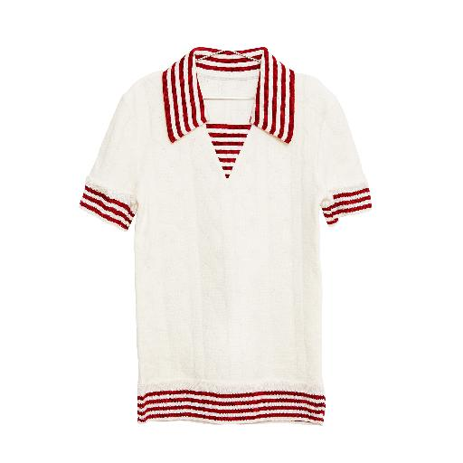 Kids shoe online Fish & Kids t-shirts Sailor top in white and red