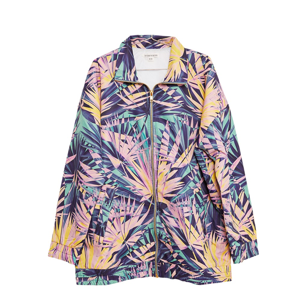 Fish & Kids - Jacket with palm print