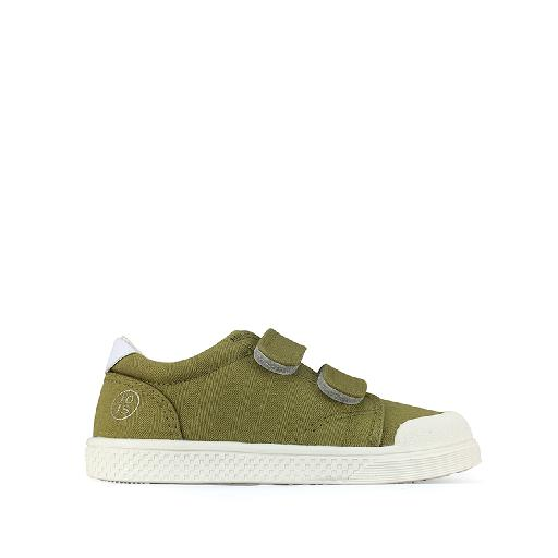 Kids shoe online 10IS trainer Canvas velcro sneaker in pistachio