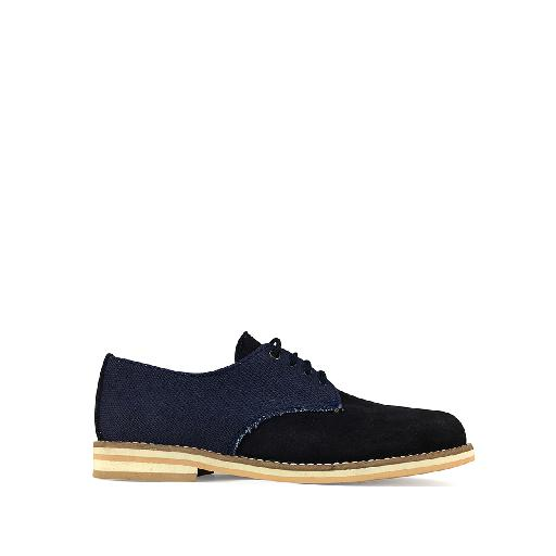 Kids shoe online Eli lace-up shoe Derby in blue tones