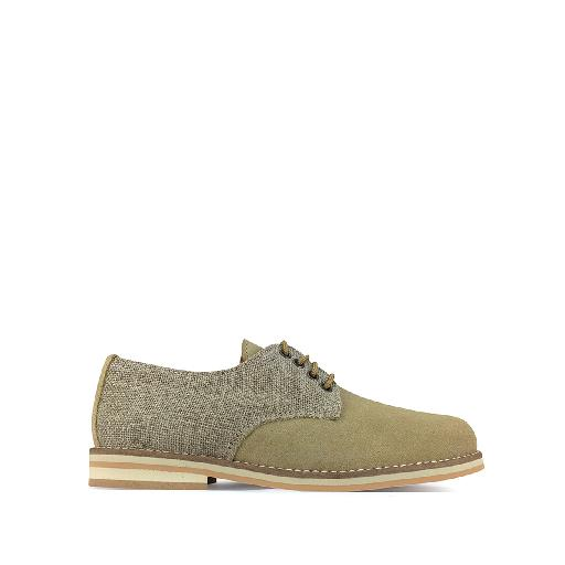 Kids shoe online Eli lace-up shoe Derby in beige tones