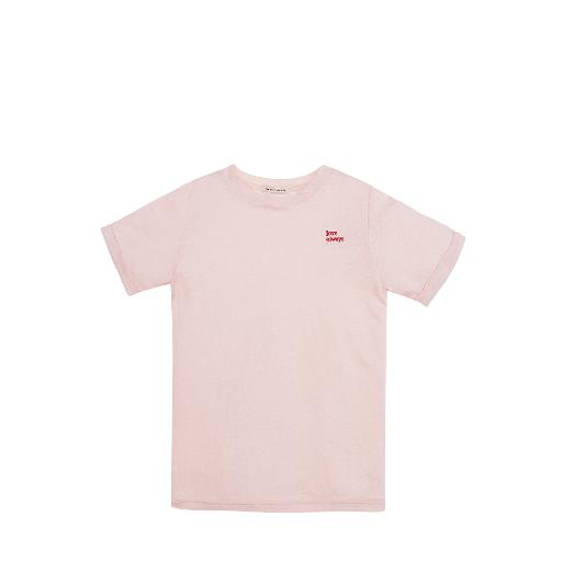 Kids shoe online The new society t-shirts Linen t-shirt in pink