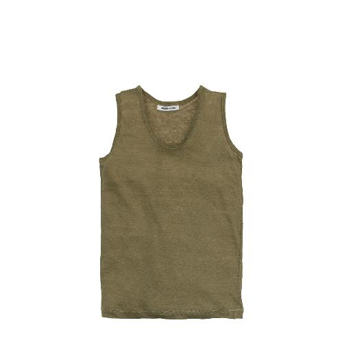 Kinderschoen online The new society tops Linnen tanktop groen
