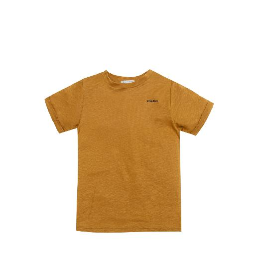 Kids shoe online The new society t-shirts Linen t-shirt in brown