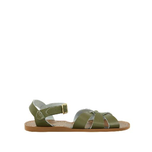 Kinderschoen online Salt water sandal sandaal Salt-Water Original in olijfgroen