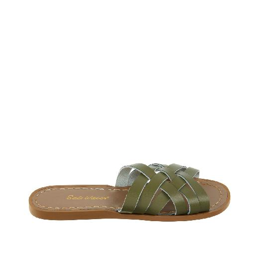 Kinderschoen online Salt water sandal sandaal Salt-Water Retro Slide in olijfgroen