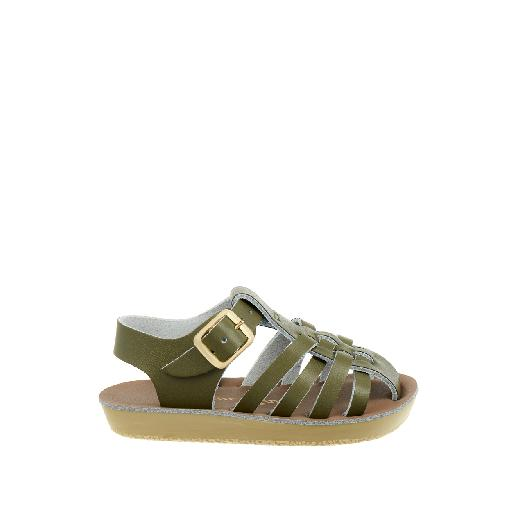 Kinderschoen online Salt water sandal sandaal Salt-Water Sailor sandaal in olijfgroen