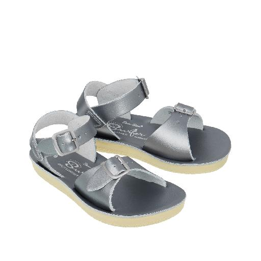 3b38ba4795af Salt water sandal sandal Salt Water Surfer sandal in pewter silver
