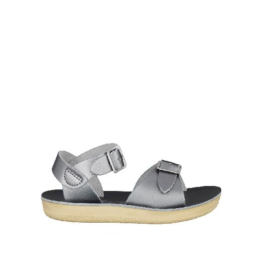 Kinderschoen online Salt water sandal sandaal Salt-Water Surfer sandaal in pewter zilver