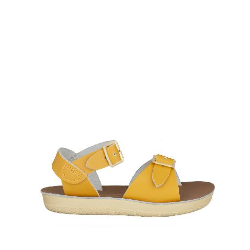 Kinderschoen online Salt water sandal sandaal Salt-Water Surfer sandaal in mosterd