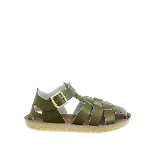 Kinderschoen online Salt water sandal sandaal Salt-Water Shark sandal in olijfgroen