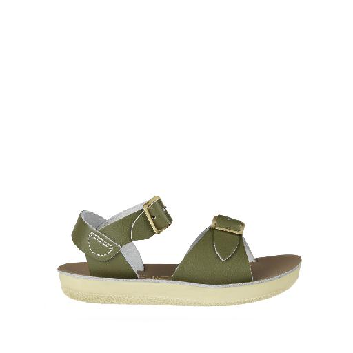 c9c39cb233b Kinderschoen online Salt water sandal sandaal Salt-Water Surfer sandaal in  olijfgroen