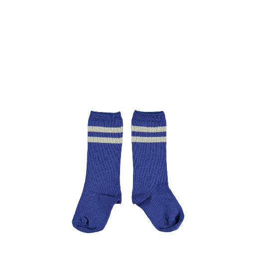 Kids shoe online Piupiuchick short socks Blue striped socks