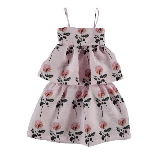 Kids shoe online Caroline Bosmans dresses Pink layered dress roses