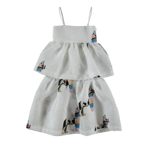 Kids shoe online Caroline Bosmans dresses White layered dress pinata