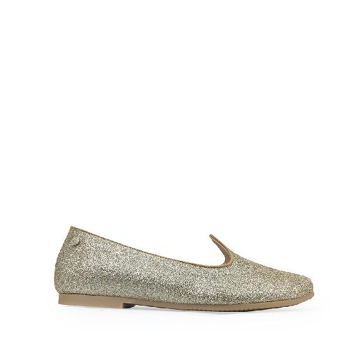 Manuela de juan mary jane Glitter ballerina in gold