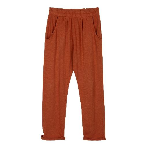 Kids shoe online Le Petit Germain trousers Brick red soft chino