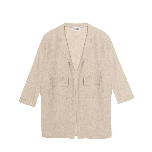 Kids shoe online The new society jackets Beige linen blazer