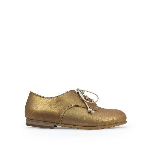 Kids shoe online Pèpè lace-up shoe Derby in gold