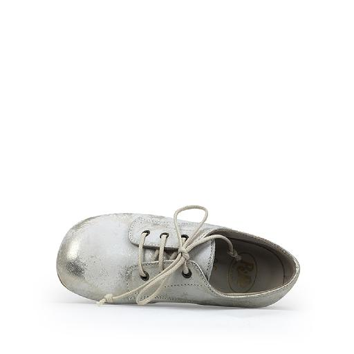 Pèpè lace-up shoe Derby in platinum on white