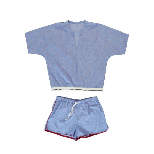 Kids shoe online Dorélit nightdresses Short blue pyjamas