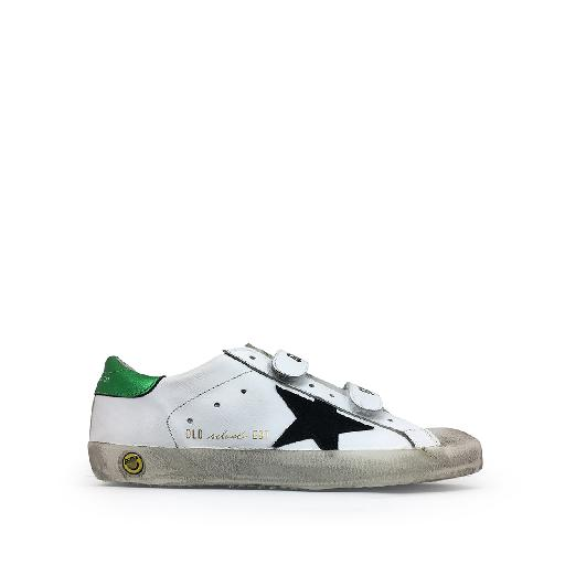 Kids shoe online Golden Goose deluxe brand trainer Velcro sneaker with metallic green