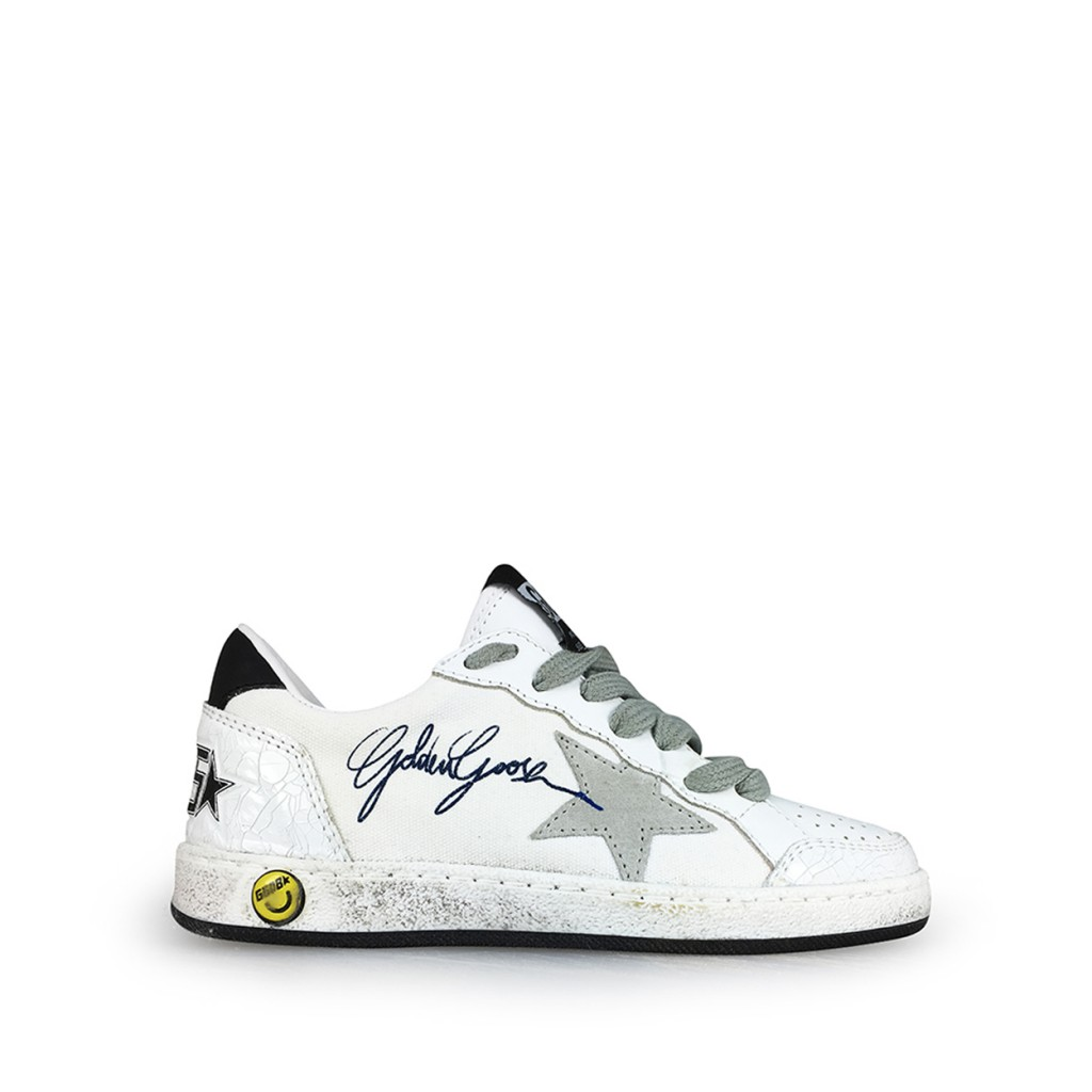 Golden Goose deluxe brand trainer White sneaker with grey details