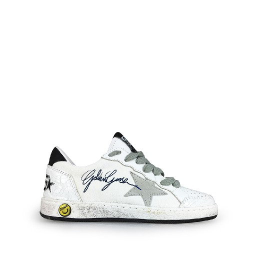 Kids shoe online Golden Goose deluxe brand trainer White sneaker with grey details