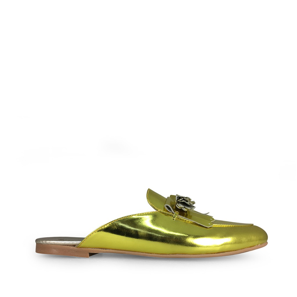 BiKey - Metallic loafer in yellow