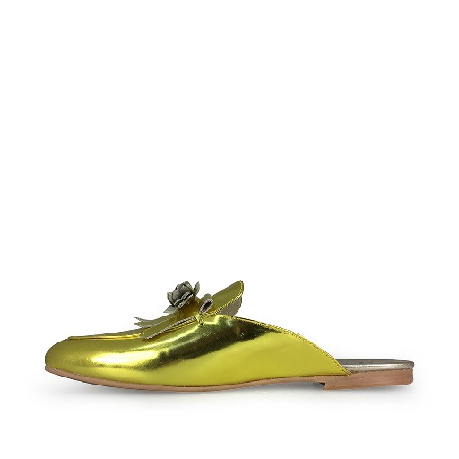 BiKey loafer Metallic geel muiltje
