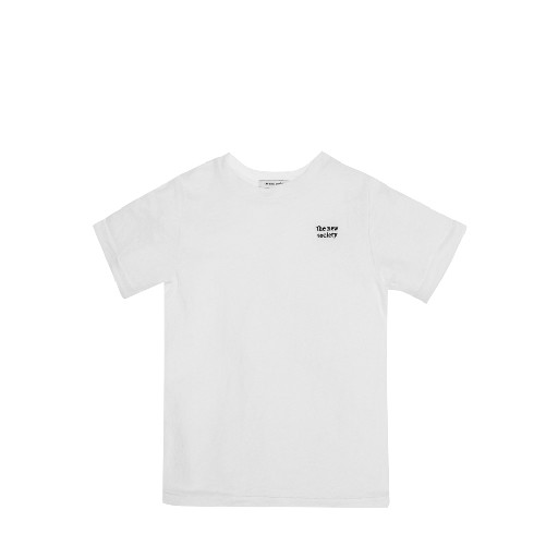 Kids shoe online The new society t-shirts Linen t-shirt in off white